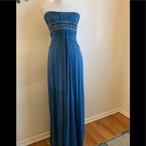 BCBGMaxAzria Strapless Full Length Prom Gown